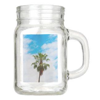 California Palm Tree Mason Jar