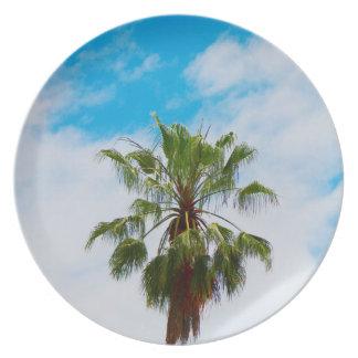 California Palm Tree Melamine Plate