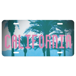 California Palm Trees Aluminum License Plate