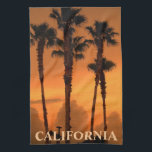 """California Palm Trees Gold Coast MoJo Kitchen Towe Hand Towel<br><div class=""""desc"""">California Palm Trees Gold Coast MoJo Kitchen Towel featuring photography by Artist Rick Short of palm trees at sunset over the gold coast in Southern California.</div>"""