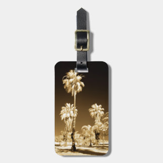 California Palm Trees Infrared Luggage Tag