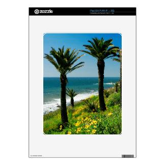 California Palm Trees & Ocean Decal for iPad