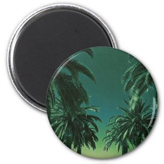 California Palm Trees Orange County Neon Magnet