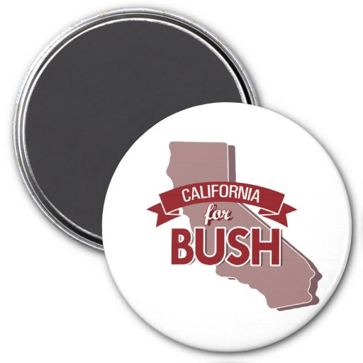 CALIFORNIA PARA BUSH - .PNG IMÁN PARA FRIGORÍFICO