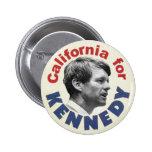 California para el botón de Kennedy Pin Redondo De 2 Pulgadas
