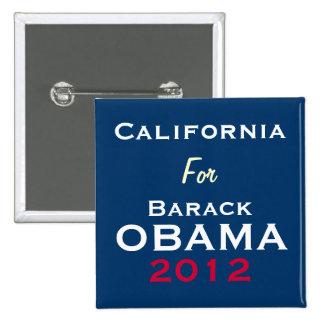 CALIFORNIA para el botón de la campaña de OBAMA 20 Pin