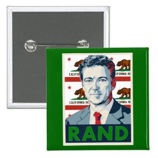 California para el rand Paul Pin Cuadrada 5 Cm