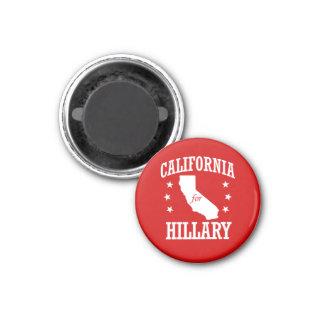 CALIFORNIA PARA HILLARY CLINTON IMÁN REDONDO 3 CM
