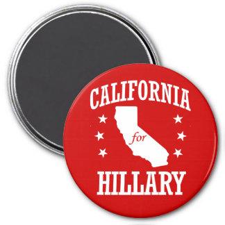 CALIFORNIA PARA HILLARY CLINTON IMÁN REDONDO 7 CM