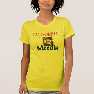 California para la camiseta de Mccain Playeras