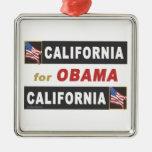 California para Obama Ornamento Para Arbol De Navidad