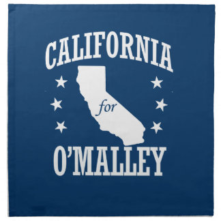 CALIFORNIA PARA O'MALLEY SERVILLETA IMPRIMIDA