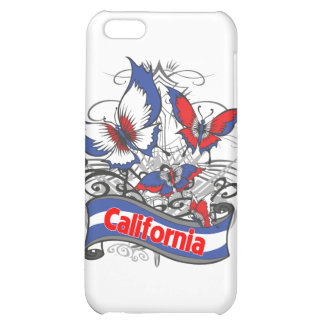 California Patriotism Butterfly Case For iPhone 5C