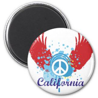 California Peace Refrigerator Magnets