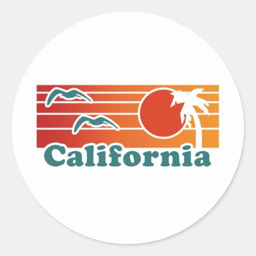 California Pegatinas Redondas