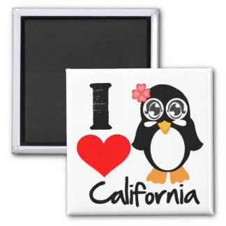 California Penguin - I Love California Fridge Magnet