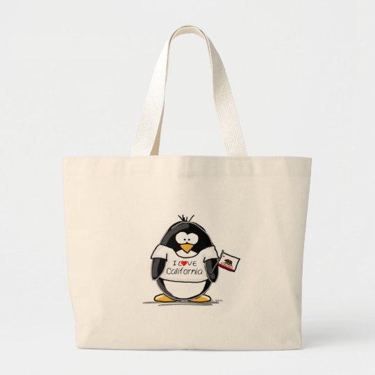 California Penguin Large Tote Bag
