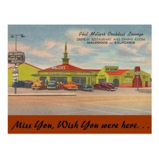 California, Phil Miller's Cocktail Lounge Postcard