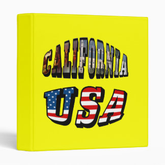 California Picture and USA Flag Text Binder