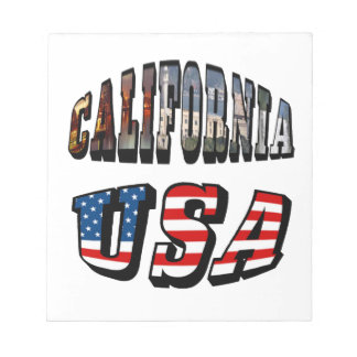 California Picture and USA Flag Text Notepad