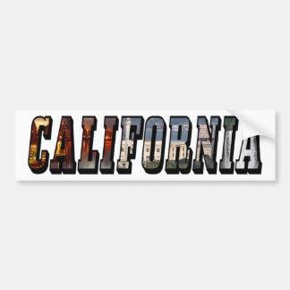 California Picture Text Bumper Sticker