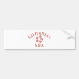 California Pink Girl Bumper Sticker