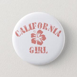 California Pink Girl Button