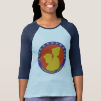 California Pinups & Patriots Ladies Raglan T shirt