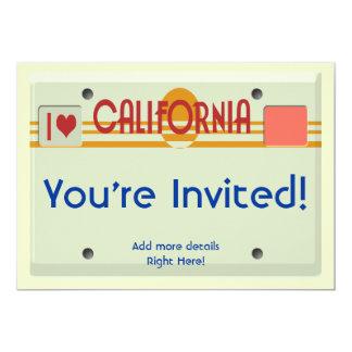 California Plates 5x7 Paper Invitation Card