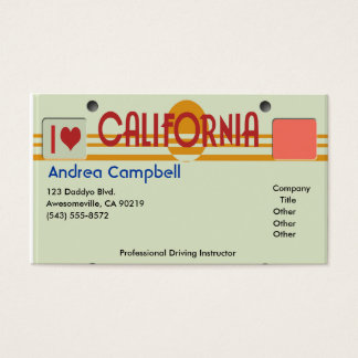 California Plates Business Card