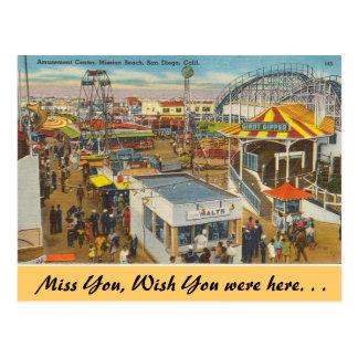 California, playa de la misión tarjeta postal