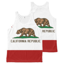 CALIFORNIA -.png All-Over-Print Tank Top