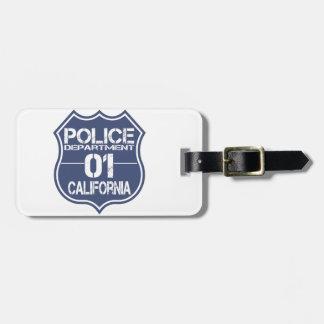 California Police Department Shield 01 Bag Tag