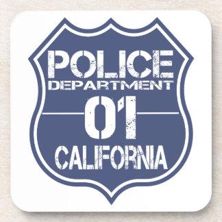 California Police Department Shield 01 Drink Coaster
