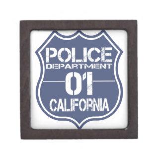 California Police Department Shield 01 Keepsake Box
