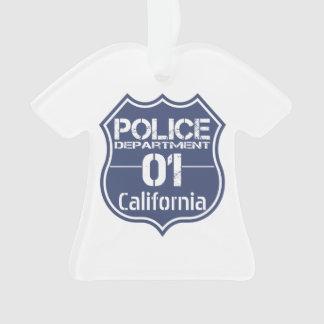 California Police Department Shield 01 Ornament