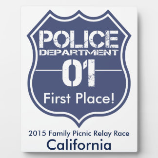 California Police Department Shield 01 Plaque