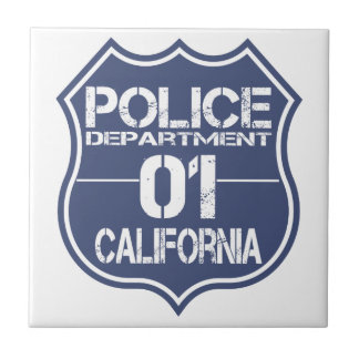 California Police Department Shield 01 Tile