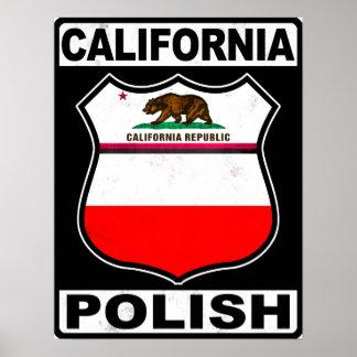 California Polish American Poster