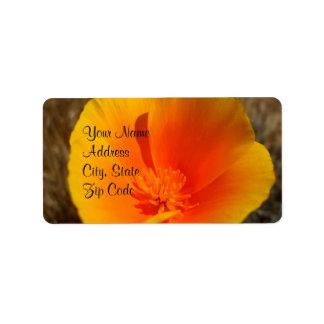 California Poppies Address Labels
