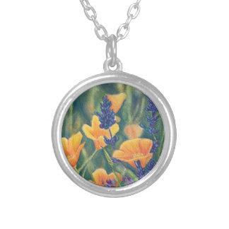 California Poppies and Lupin Custom Jewelry