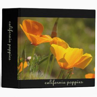 California Poppies Avery Binder