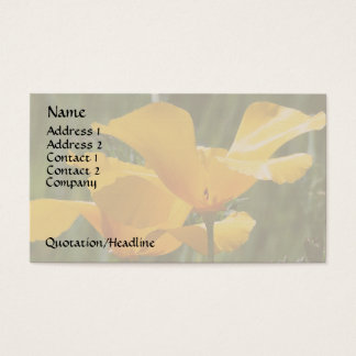 California Poppies Business Card