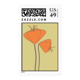 California Poppies by Delphine Postage Stamps