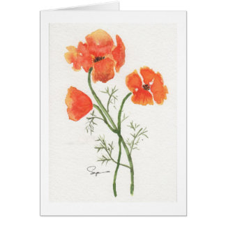 California Poppies Card