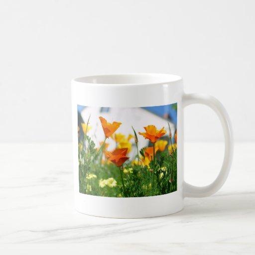 California Poppies Classic White Coffee Mug