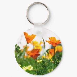 California Poppies keychain