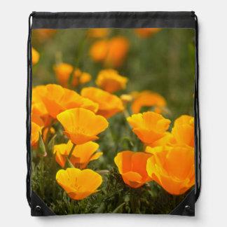 California poppies, Montana de Oro State Park Drawstring Bags
