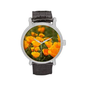 California poppies, Montana de Oro State Park Wrist Watches