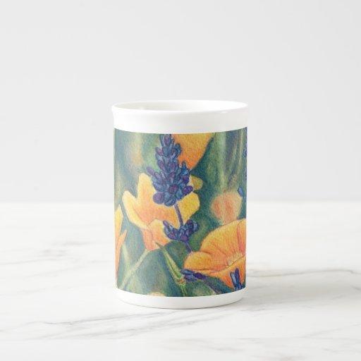 California Poppies Mug Porcelain Mugs